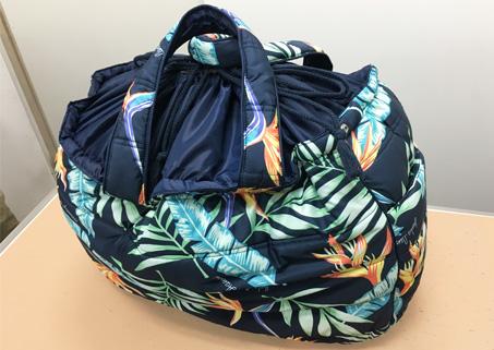 ハワイアン フララニ 大トートバッグ 巾着タイプ
